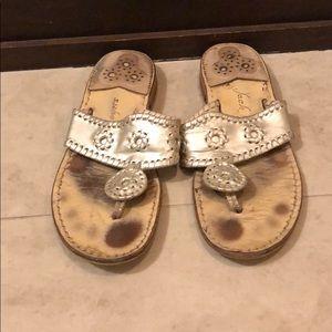 Jack Rogers Navajo Hamptons Sandal, Platinum